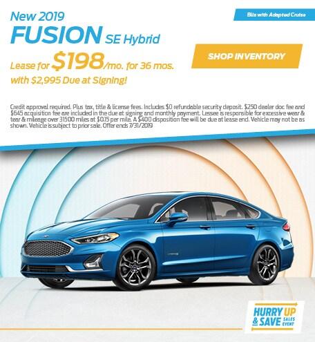 JULY - 2019 Fusion Hybrid SE