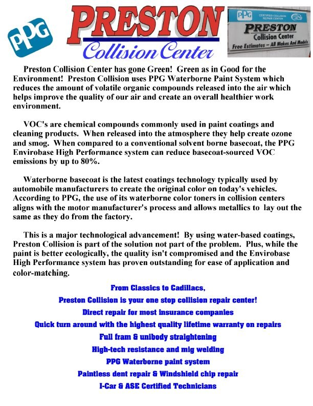 Burton Area Ford Auto Body Repair Shop Preston Ford Incs