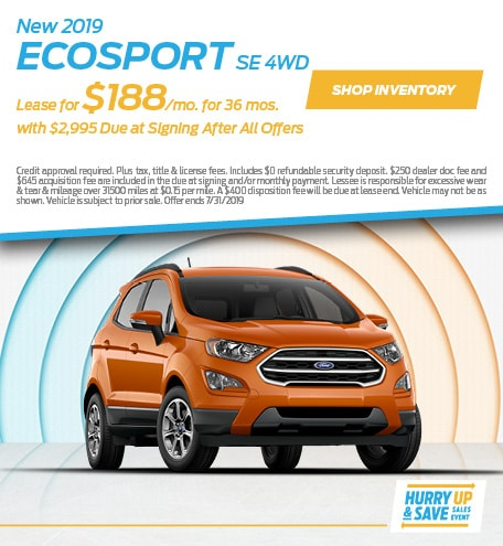 JULY - 2019 EcoSport SE 4WD