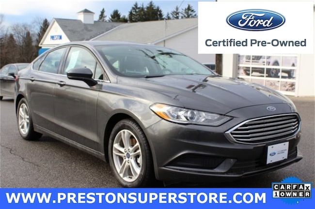 Certified Pre-owned 2018 Ford Fusion SE Sedan in Burton, OH
