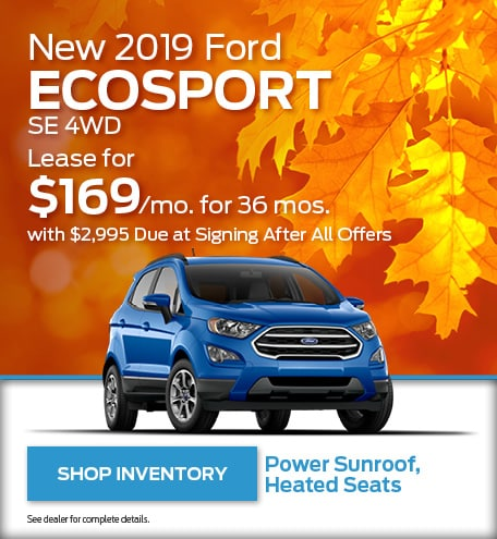 2019 Ford EcoSport Special Offer