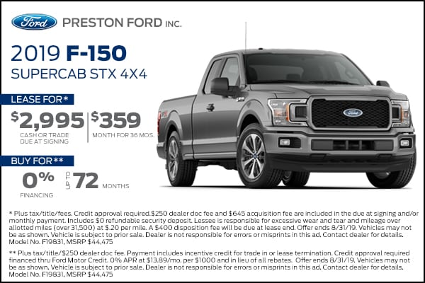 Buy your next Ford truck F-150 F150 at Preston Ford in Burton Ohio