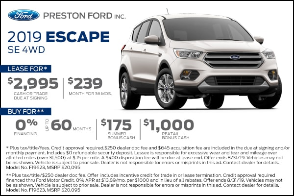 Buy a new Ford Escape from Preston Ford in Burton Ohio