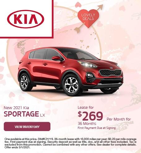 New 2021 Kia Sportage LX February
