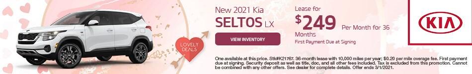 New 2021 Kia Seltos LX February