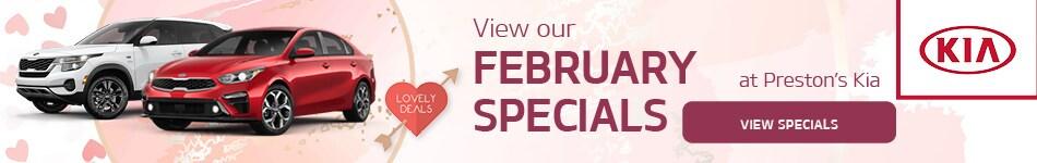 New Specials February