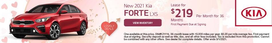 New 2021 Kia Forte LXS February
