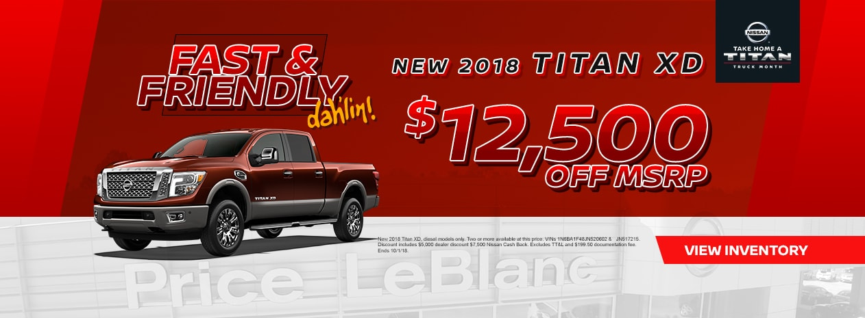Gonzales: September Vehicle Specials at Price LeBlanc ...