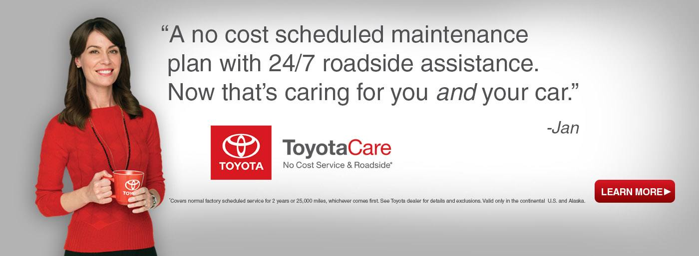 Toyotacare Roadside Assistance Number >> Baton Rouge Get Toyotacare With Every New Toyota Price Leblanc