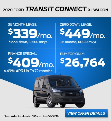 October - 2020 Transit Connect XL Wagon