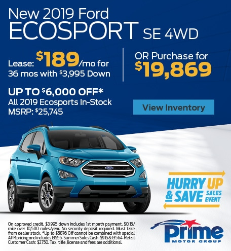 AUG - 2019 EcoSport SE 4WD