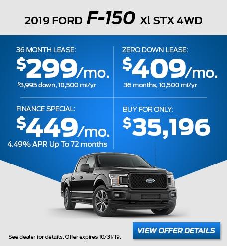 October - 2019 F-150 XL STX 4WD