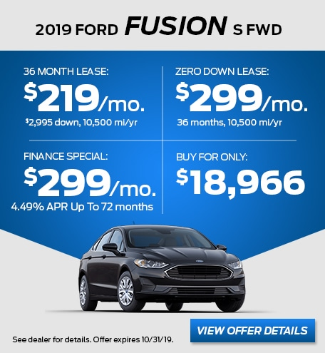 October - 2019 Fusion S FWD