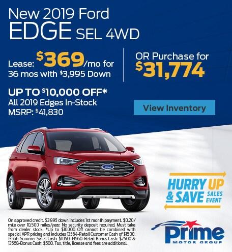 AUG - 2019 Edge SEL 4WD