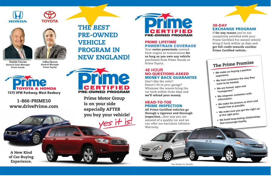 Prime Honda Certified Pre-owned Program
