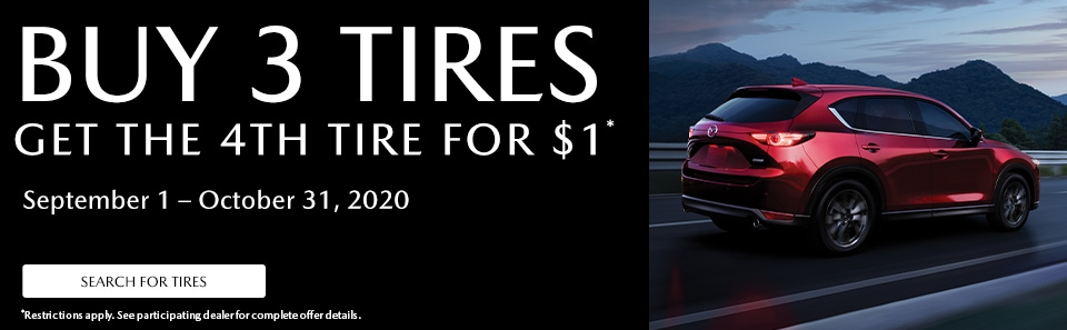 Buy 3 Tires, Get the 4th for $1