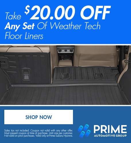 Take $20.00 Off Any Set Of Weather Tech Floor Liners