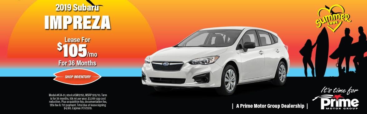 Subaru Lease Deals >> New Vehicle Specials Prime Subaru Manchester
