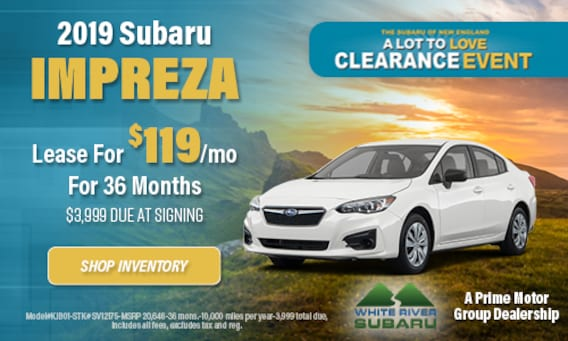 Lease A Subaru >> New Vehicle Specials White River Subaru