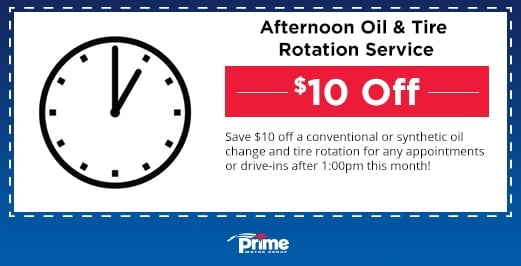 Afternoon Oil & Tire Rotation Service