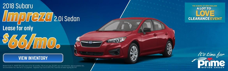 New Specials Norwich Vt Prime Subaru Vermont