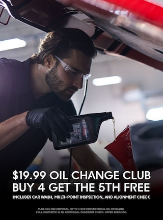 19.99 Oil Change Club – Buy 4 Get the 5th FREE