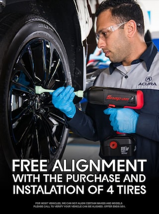 FREE Alignment with the purchase and installation of 4 Tires