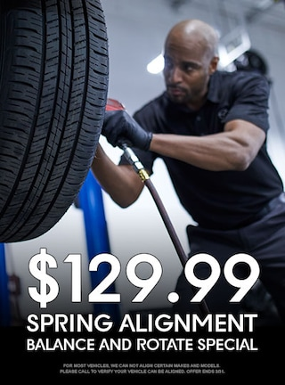 $129.99 Spring Alignment, Rotate, and Balance Special