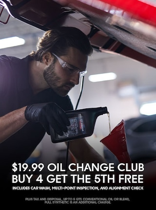 $19.99 Oil Change Club--Buy 4 get the 5th Free