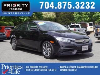Certified Pre-Owned 2016 Honda Civic EX Sedan HP545005 Huntersville, NC