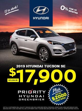 2019 Hyundai Tucson as low as $17,900