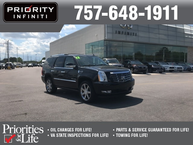 Used 2012 CADILLAC Escalade Luxury For Sale in Chesapeake, VA | VIN#  1GYS4BEF0CR199292