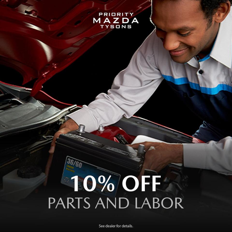10% Off Parts & Labor