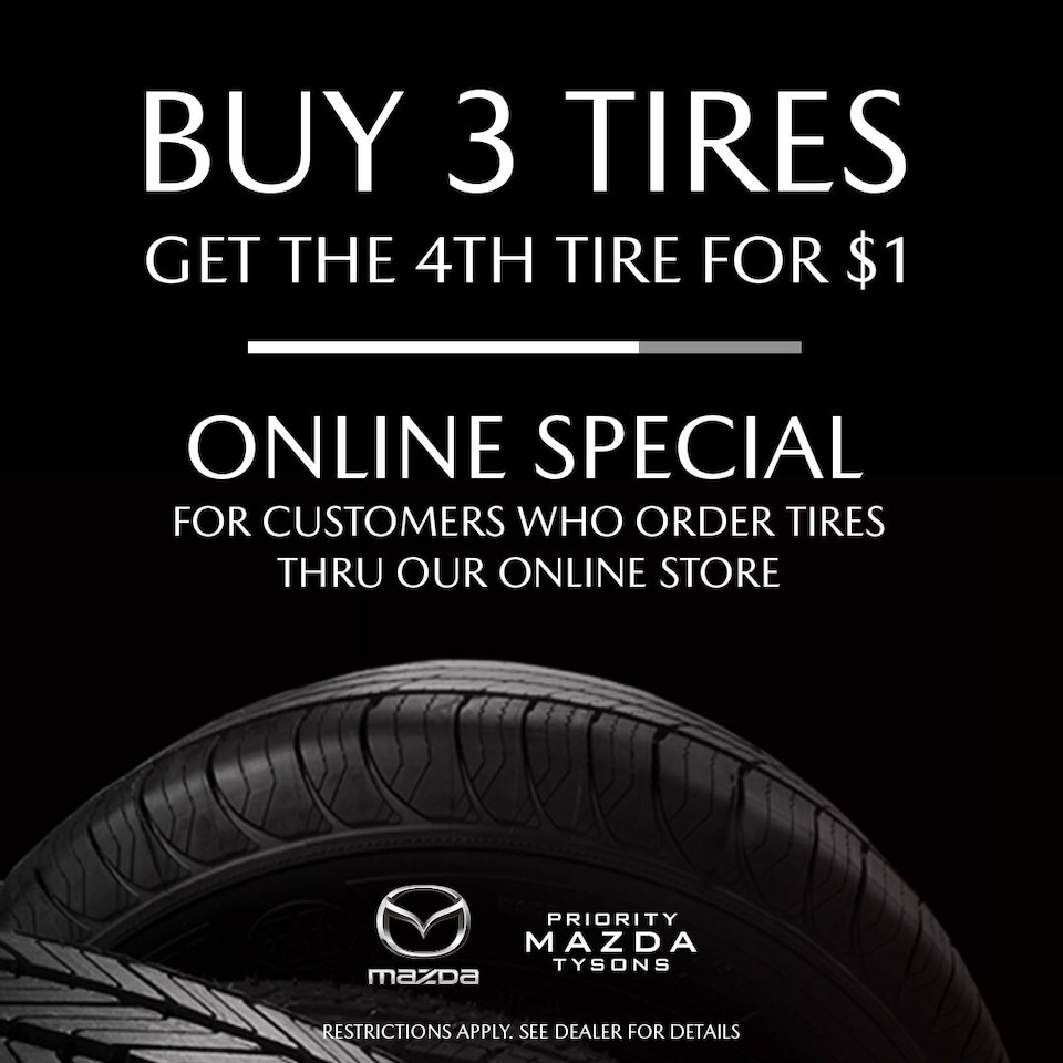 Heading Buy 3 Tires, Get 1 for $1.00*