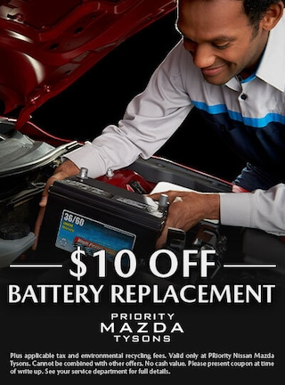 $10.00 off battery replacement