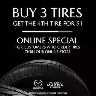 Buy 3 Tires, Get 1 for $1.00*