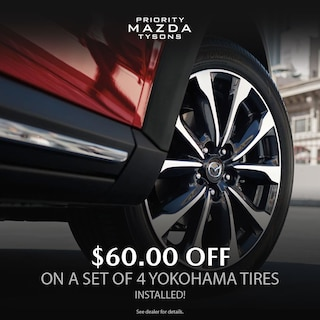 $60 for 4 Yokohama Tires Installed*