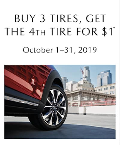 Buy 3 Tires, Get the 4th for $1.00!