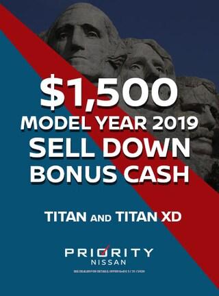 $1500 OFF 2019 Nissan Titan and Titan XDs