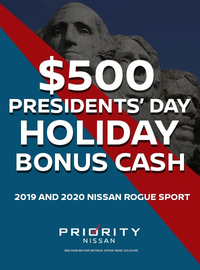 $500 OFF 2019 and 2020 Nissan Rogue Sports