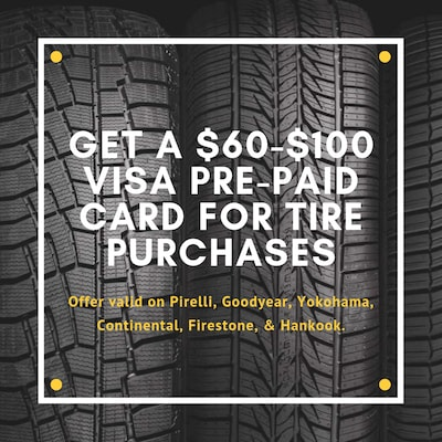 Get A Visa Card For A Tire Purchase