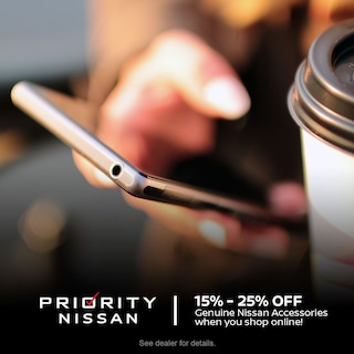 Save 15% - 25% off Genuine Nissan Accessories when you shop online!