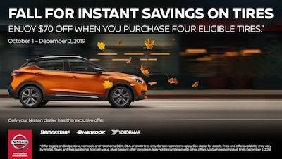 $70.00 Off When You Purchase 4 Eligible Tires!