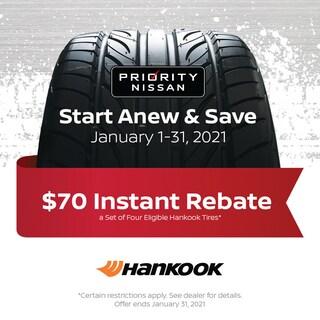 $70 Instant Rebate - Hankook Tires