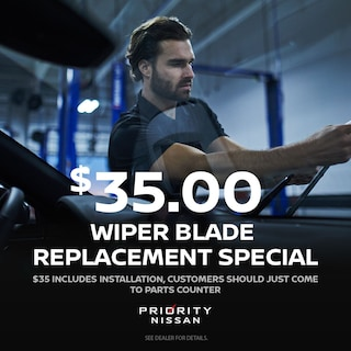 $35 Wiper Blade Replacement