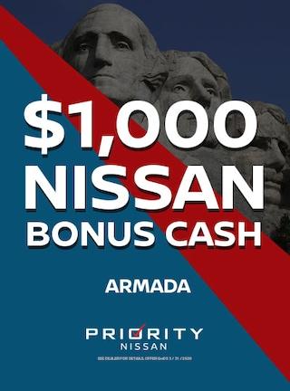 $1000 OFF 2019 Nissan Armadas