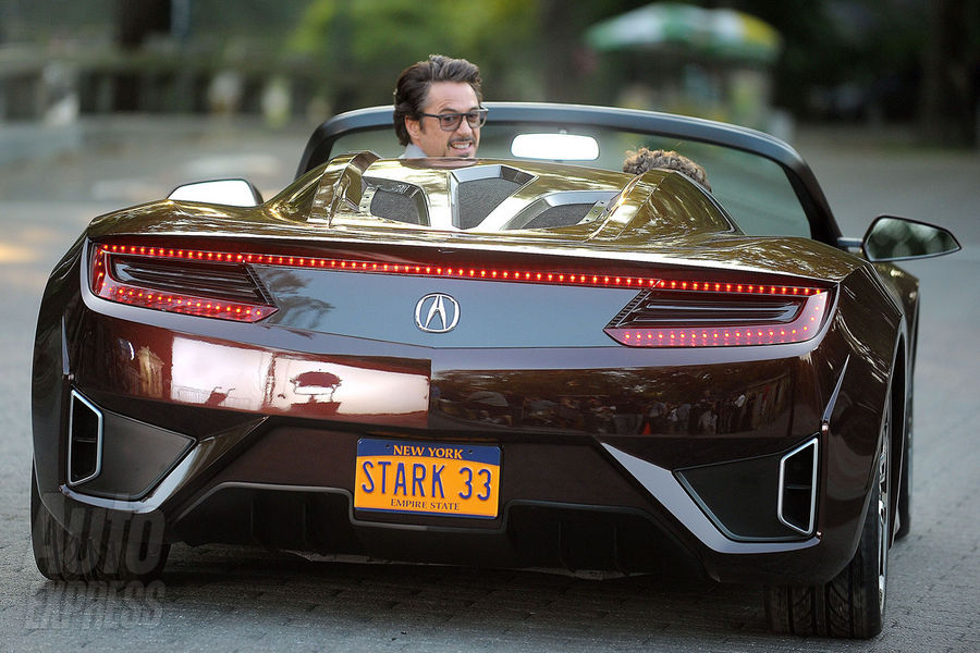 This Convertible Was The Concept Car For The Acura NSX And Replaced The R8  Driven By Stark In The Iron Man Movies.