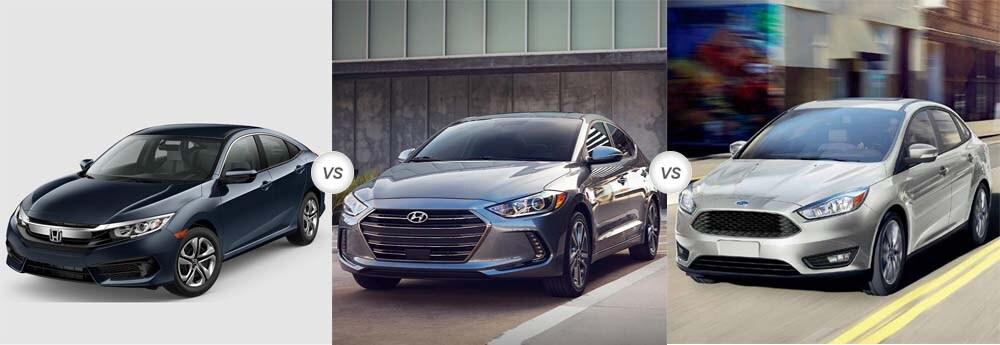 2018 Honda Civic Vs 2018 Hyundai Elantra Vs 2018 Ford Focus