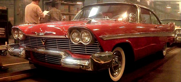 famous movie cars christine the 1958 plymouth fury. Black Bedroom Furniture Sets. Home Design Ideas