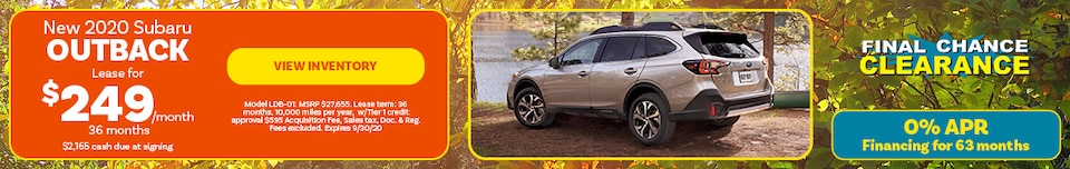 New 2020 Subaru Outback